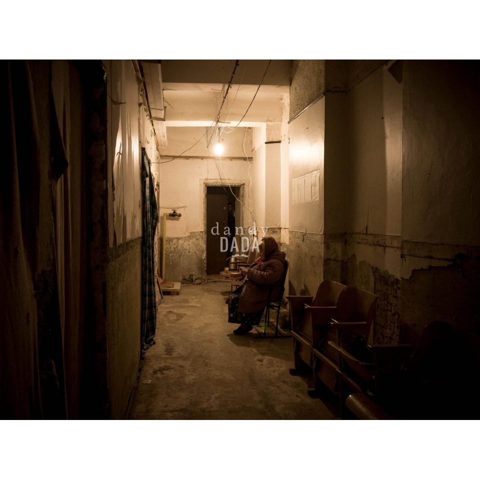 Inside an Ukrainian shelter